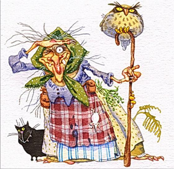 Картинка к сказке Баба Яга и ягоды