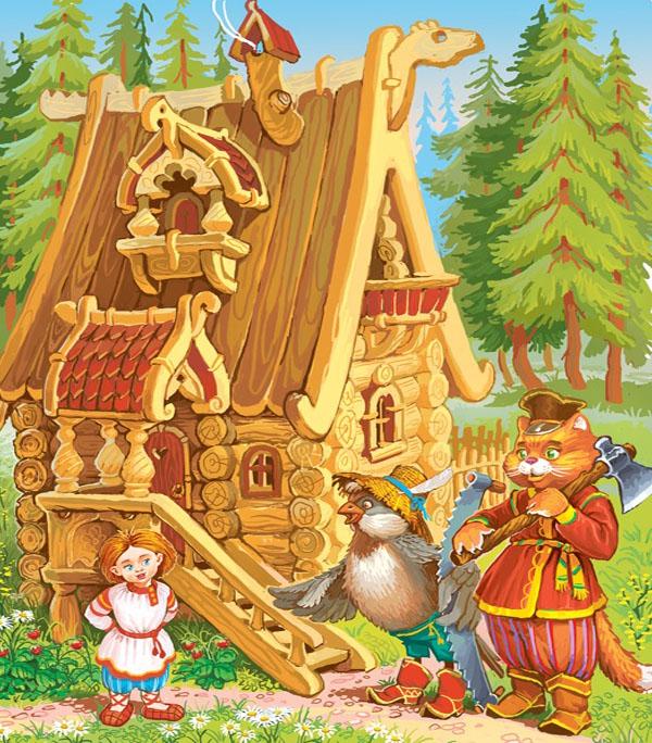 Картинка к сказке Баба Яга и жихарь