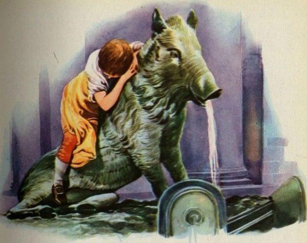 Картинка к сказке Бронзовый кабан