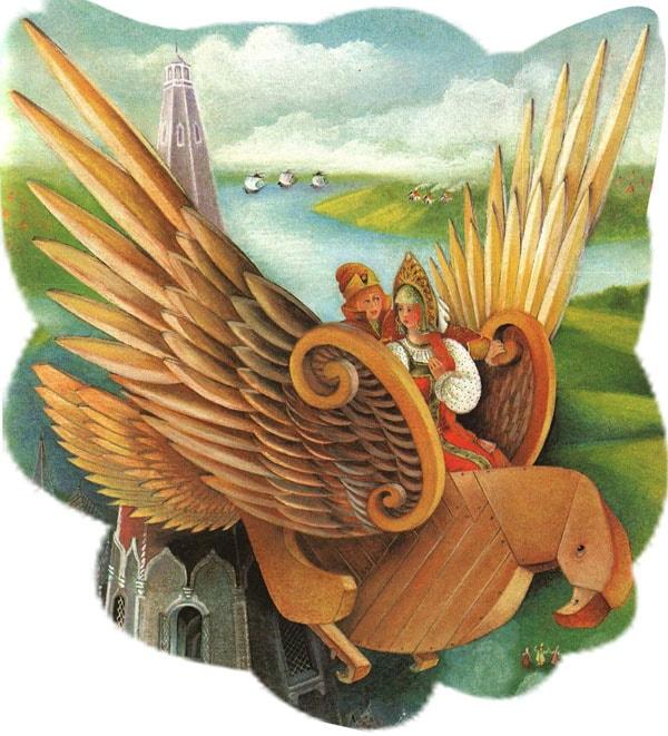 Картинка к сказке Деревянный орел