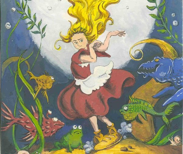 Картинка к сказке Девочка, которая наступила на хлеб