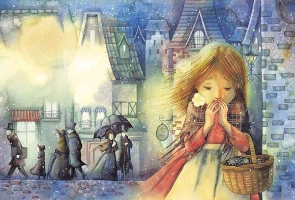 Картинка к сказке Девочка со спичками