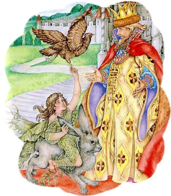 Картинка к сказке Дочь-семилетка