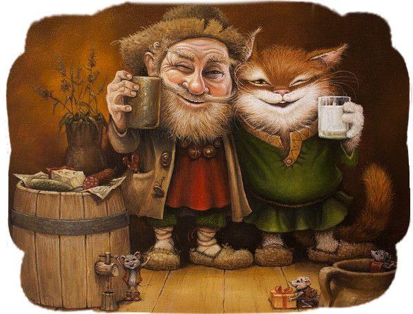 Картинка к сказке Домовой и хозяйка