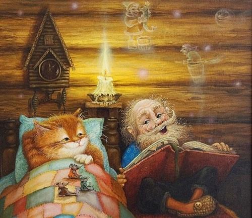 Картинка к сказке Домовой у лавочника