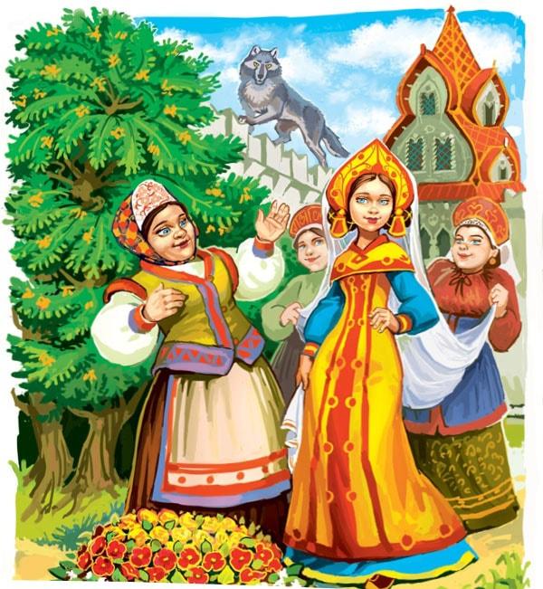 Картинка к сказке Иван-царевич и Серый волк