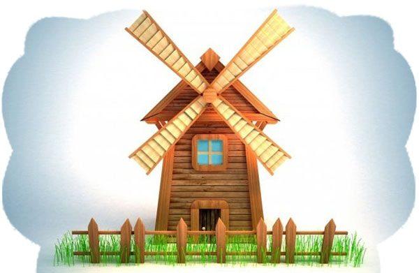 Картинка к сказке Ветряная мельница
