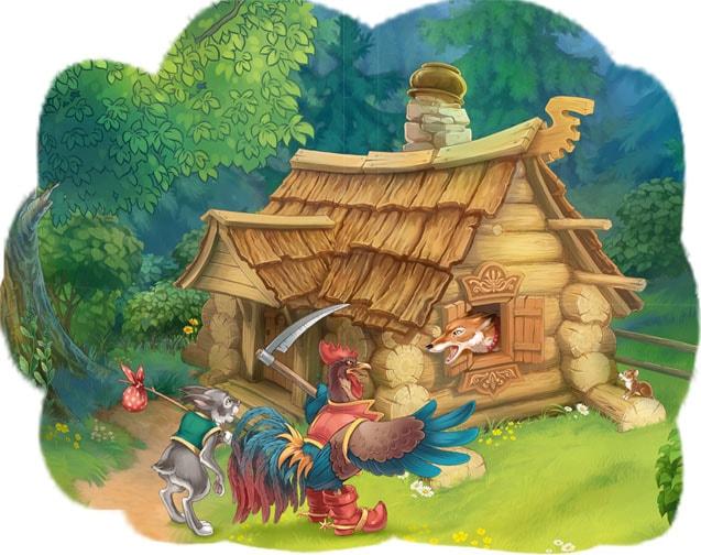 Картинка к сказке Зайкина избушка
