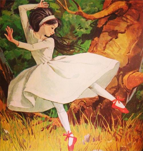 Картинка к сказке Красные башмаки