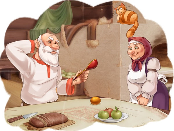 Картинка к сказке Курочка Ряба