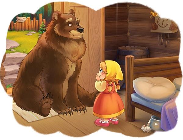 Картинка к сказке Маша и медведь