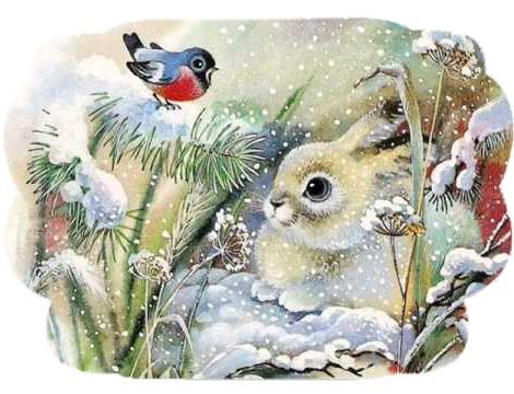 Картинка к сказке Мороз и заяц