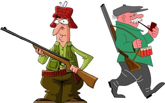 Картинка к сказке Про двух охотников
