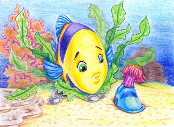 Картинка к сказке Рыбий дом