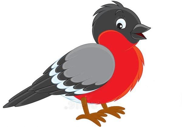 Картинка к сказке Снегирушка-милушка