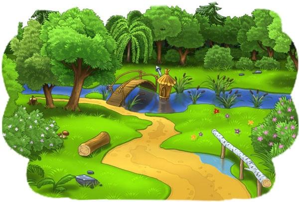 Картинка к сказке Тропинка