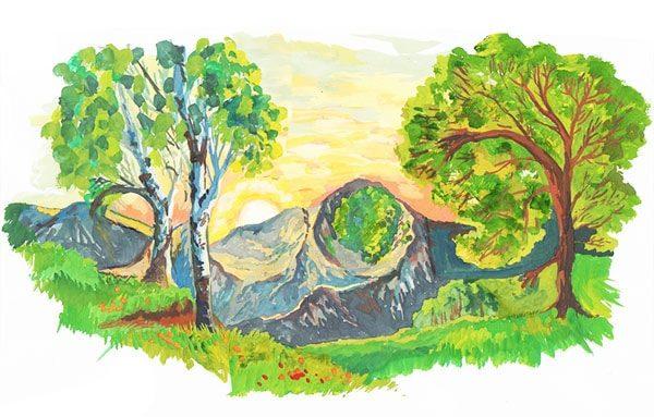 Картинка к сказке Дорогой земли виток