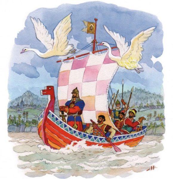 Картинка к сказке Ермаковы лебеди