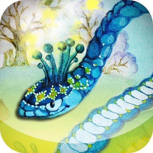 Картинка к сказке Голубая змейка