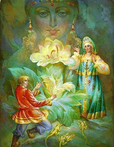Картинка к сказке Каменный цветок