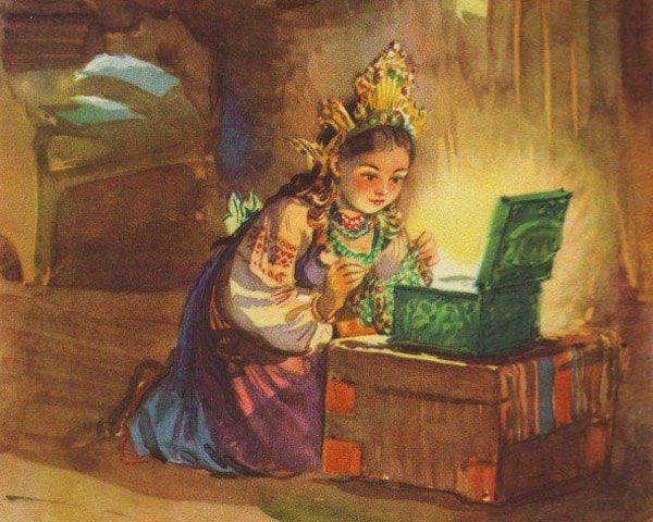 Картинка к сказке Малахитовая шкатулка