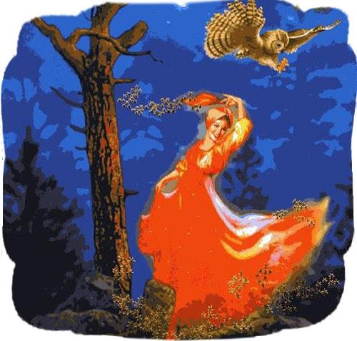 Картинка к сказке Огневушка-поскакушка
