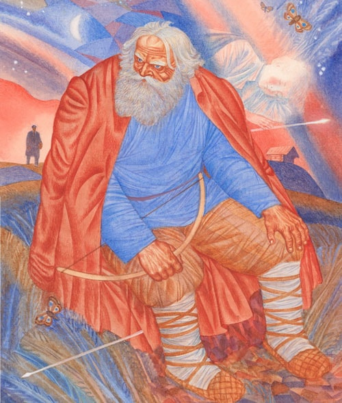 Картинка к сказке Орлиное перо