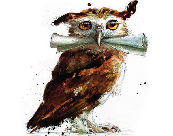 Картинка к сказке Про сову