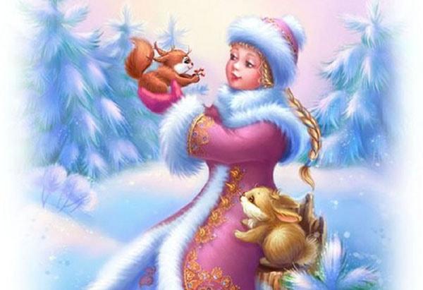 Картинка к сказке Снегурочка и белоснежка