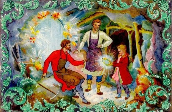 Картинка к сказке Таюткино зеркальце