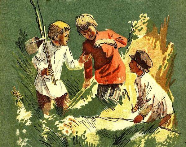 Картинка к сказке Зелёная кобылка