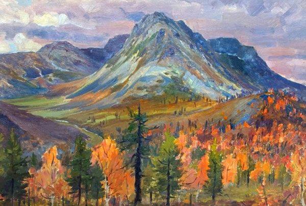 Картинка к сказке Золотоцветень горы