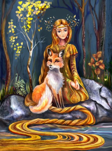 Картинка к сказке Золотой волос