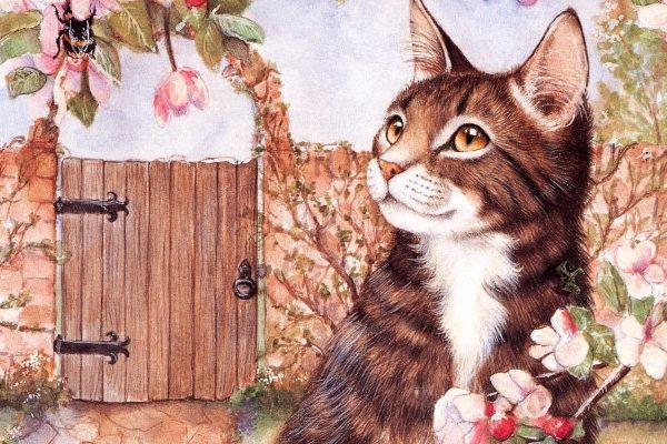 Картинка к сказке Как кошка на дачу собиралась