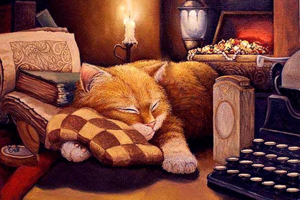 Картинка к сказке Кошка и кукушка