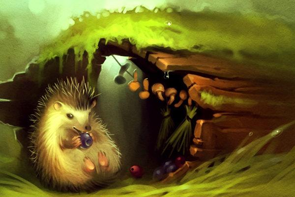 Картинка к сказке Лесной колобок