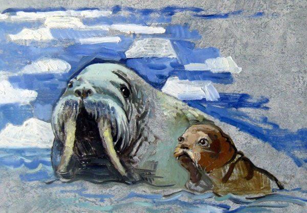 Картинка к сказке Моржиха
