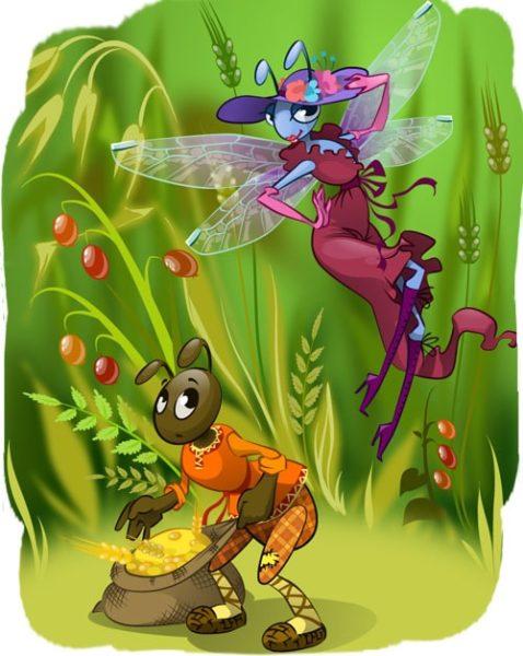 Картинка к сказке Муравей и стрекоза