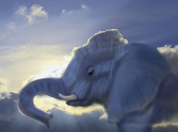 Картинка к сказке Небесный слон
