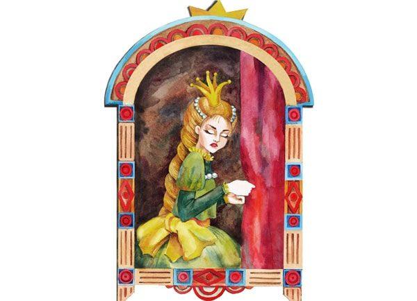 Картинка к сказке Принцесса Несмеяна