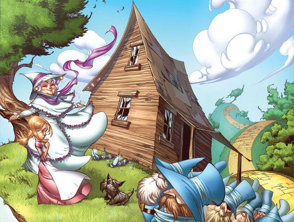 Картинка к сказке Волшебник Изумрудного города