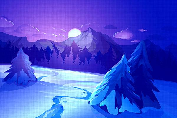 Картинка к сказке Голубой зверёк