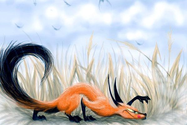 Картинка к сказке Как лис ежа перехитрил