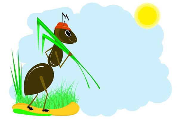 Картинка к сказке Как муравьишка домой спешил
