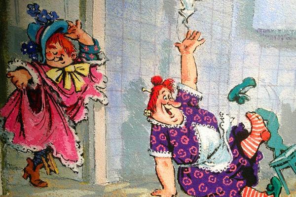 Картинка к сказке Карлсон, который живёт на крыше, проказничает опять