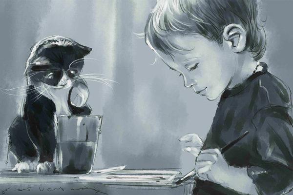 Картинка к сказке Крошка Нильс Карлсон