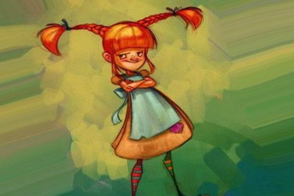 Картинка к сказке Пеппи поселяется в вилле «Курица»
