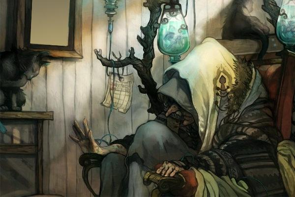 Картинка к сказке Старая нищенка