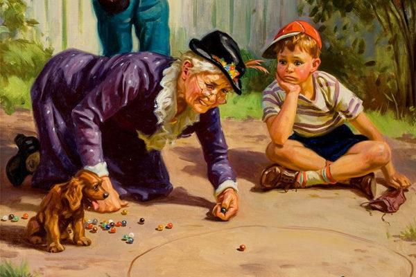 Картинка к сказке Старушка