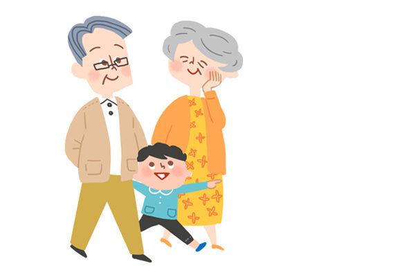 Картинка к сказке Старый дед и внучек